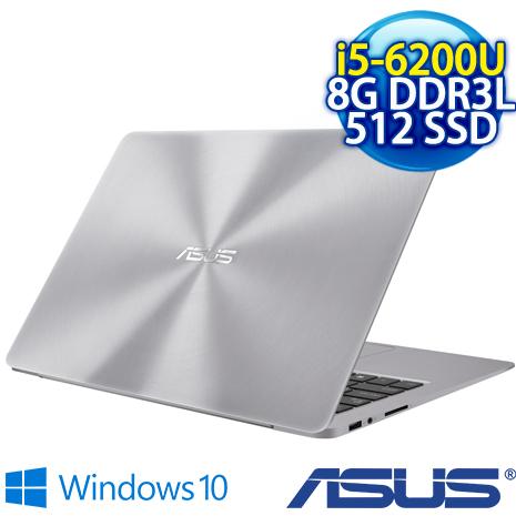 【開學瘋狂購】【預購】ASUS UX330UA-0031A6200U(13.3吋FHD/i5-6200U/8G記憶體/512GSSD) 極致輕薄高效筆電(金屬灰)