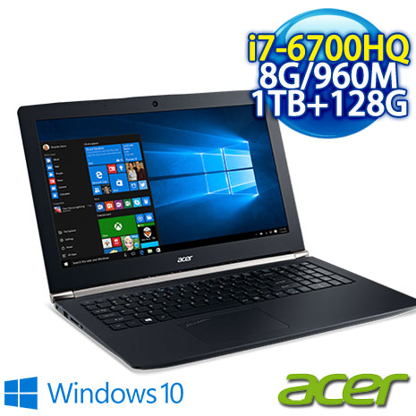 【電競筆電送兩大軟體】ACER VN7-592G-780P 15吋 強悍電競筆電(I7-6700HQ/8GB DDR4/1TB+128G SSD/GTX 960 4G/15.6FHD/Win10)