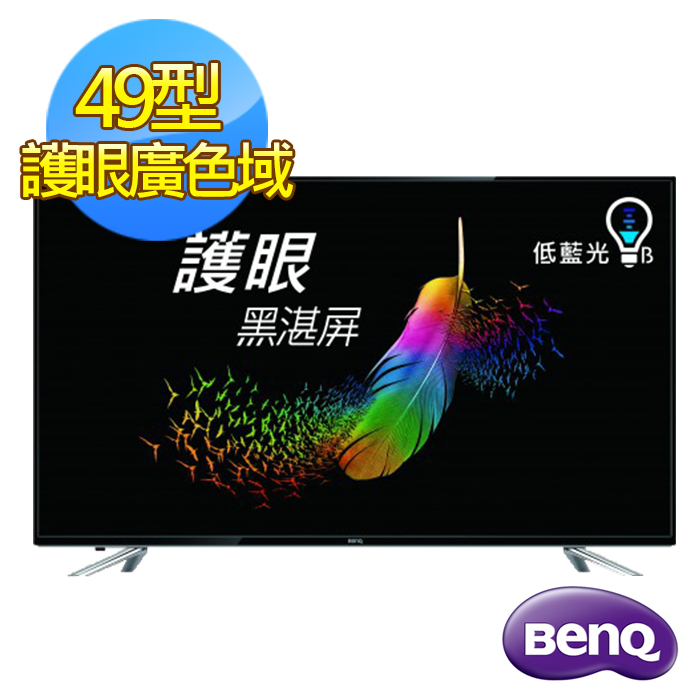 贈安裝+大同吹風機+行動電源【BenQ】49吋護眼廣色域低藍光LED液晶顯示器+視訊盒(49IE6500)