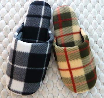 (e鞋院) 【簡約格紋 】絨毛舒適室內拖鞋