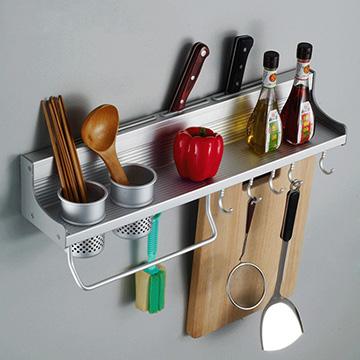 太空鋁廚房多功能置物架(雙杯架款)