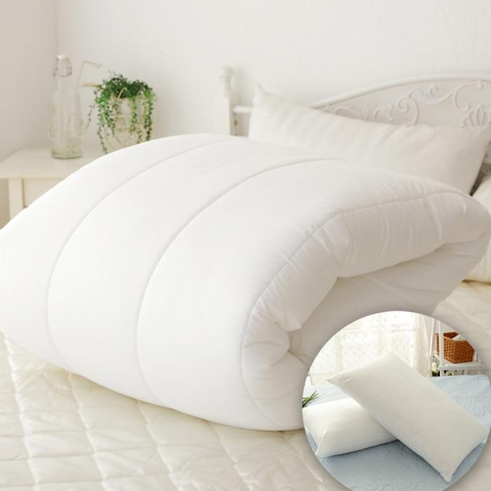 特賣-【FOCA超值一被二枕】嚴選舒眠羽絲絨X1+舒眠枕X2