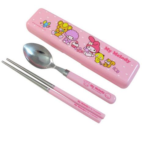 My Melody餐具組-盒MM-8236