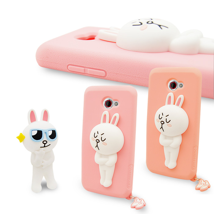 LINE原廠-HTC Butterfly S 專用CONY 兔兔 矽膠保護殼