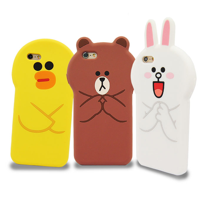 LINE原廠 - APPLE iPhone 6s/6 Plus 立體滴膠造型保護套
