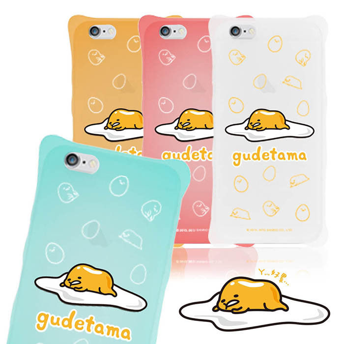 【三麗鷗原廠】iPhone 6s/6 Plus gudetama蛋黃哥防震矽膠保護套