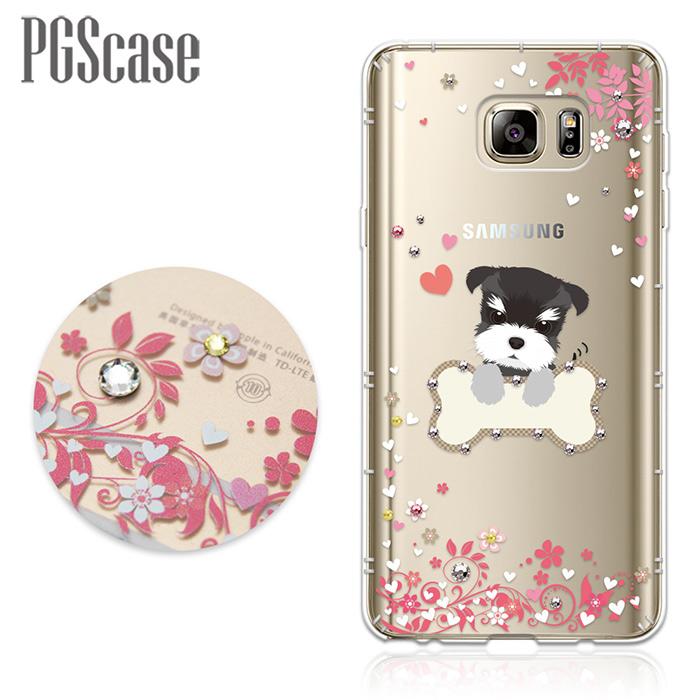 PGS Samsung Galaxy Note5奧地利彩鑽防摔手機殼-俏皮小Q