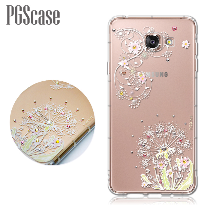 PGS Samsung Galaxy A7(2016) 奧地利彩鑽防摔手機殼-彼岸花