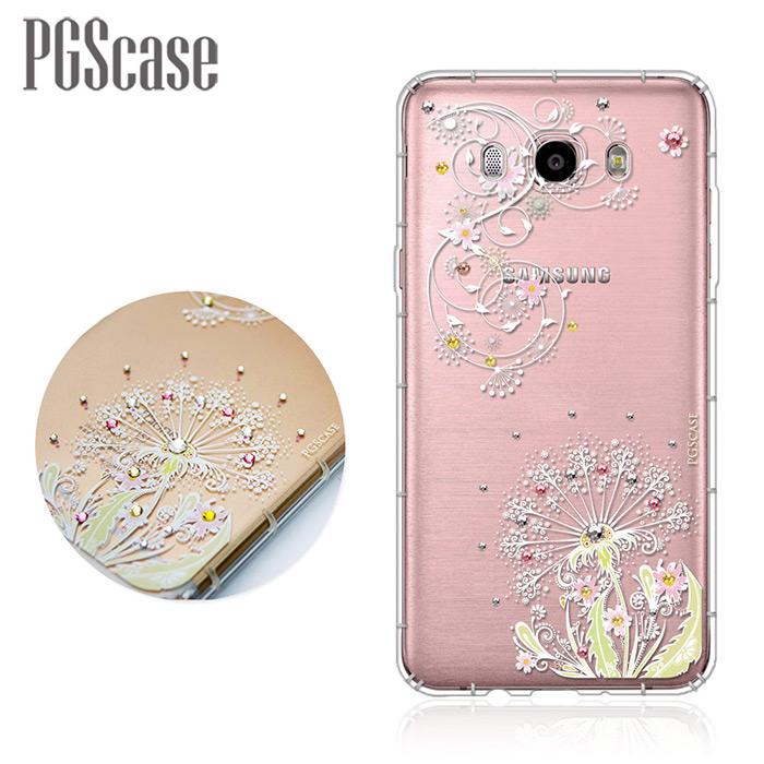 PGS Samsung Galaxy J7(2016) 奧地利彩鑽防摔手機殼-彼岸花