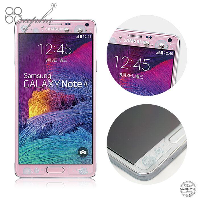 apbs Samsung Galaxy Note4 施華洛世奇彩鑽玻璃保護貼-禮服