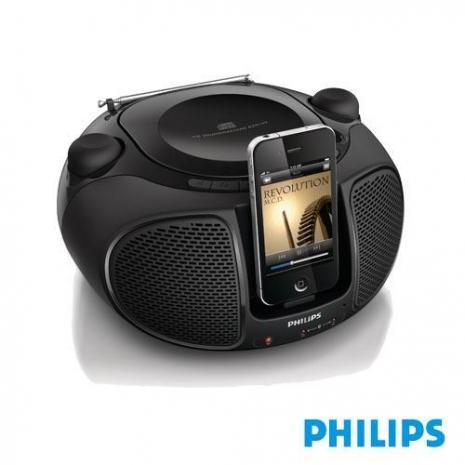 PHILIPS飛利浦手提CD音響(黑色)AZD102送音樂CD
