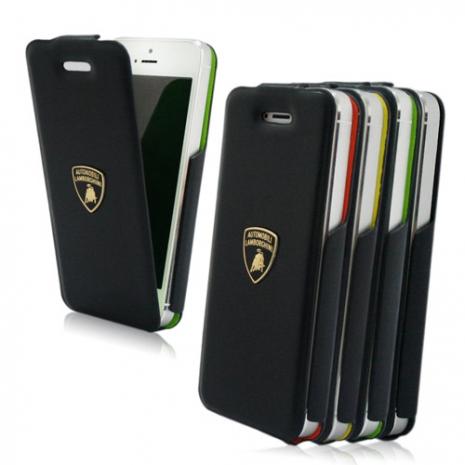 義大利Lamborghini藍寶堅尼授權 TROFEO iPhone 5/5s/SE 真皮上掀式皮套(4色)