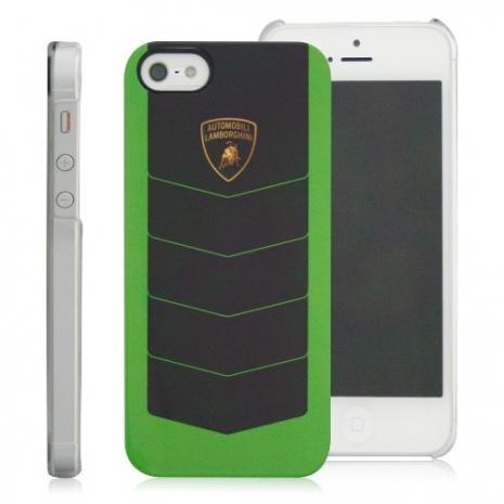 義大利Lamborghini藍寶堅尼授權 CORSA iPhone 5/5s/SE 保護殼(綠+黑)