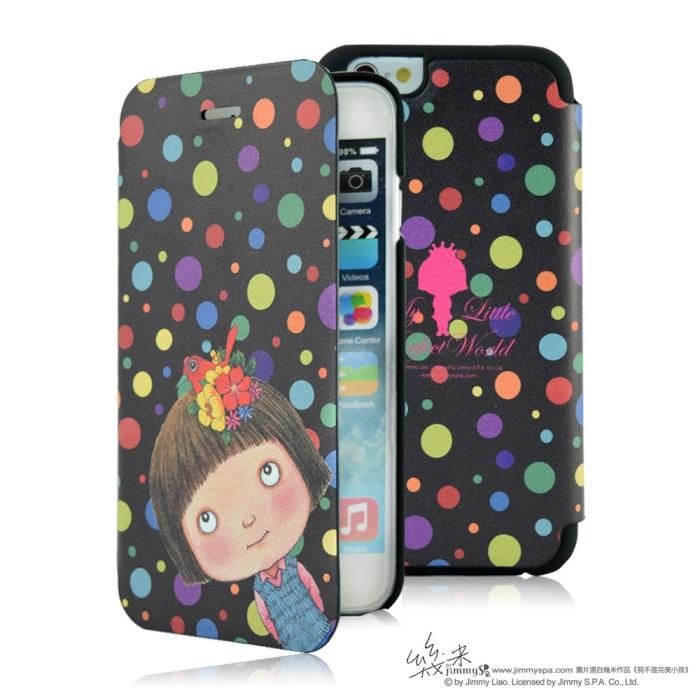 幾米 iPhone 6/6S Plus 5.5吋掀蓋皮套-黑色斑點