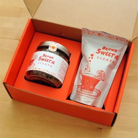 【黑糖溫馨禮盒】Brown Sweetie 手工柴燒黑糖 精緻玻璃罐裝+家庭號立袋