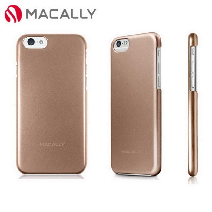【Macally】iPhone 6(4.7)金屬質感防護背蓋-金(SNAPP6MCH)