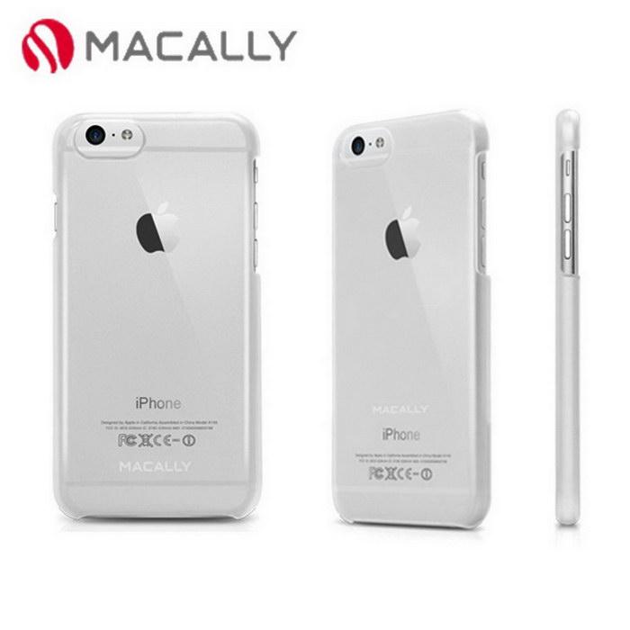 【Macally】iPhone 6(4.7)金屬質感防護背蓋-透明(SNAPP6MC)