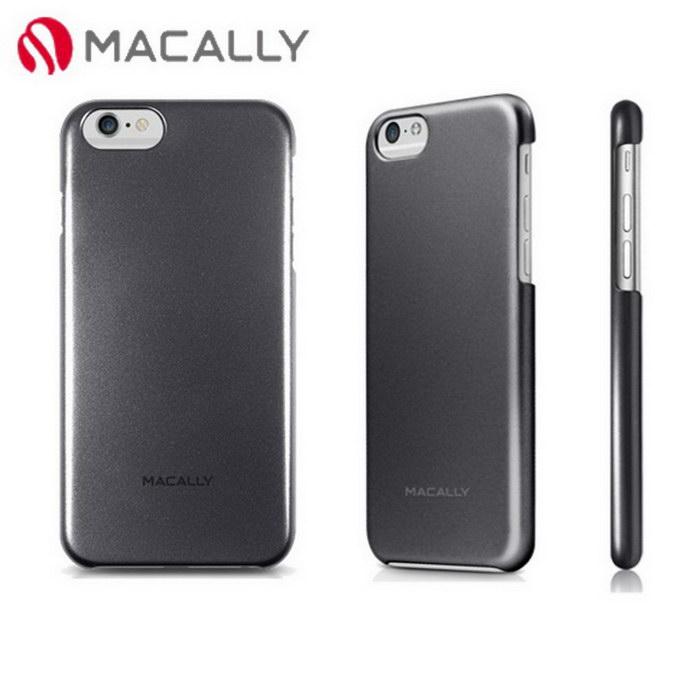 【Macally】iPhone 6(4.7)金屬質感防護背蓋-黑(SNAPP6MB)