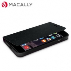 ~Macally~iPhone 6 Plus^(5.5^)側翻可站立式皮套~黑^(FOLI