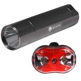 【KINYO】鋁合金七段式手電筒-發光警示單車車燈組(BLED-7103)