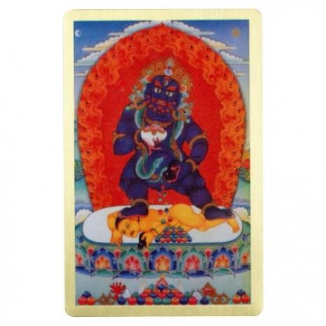 黑財神-隨身護身卡/唐卡-銅箔(PBC046)