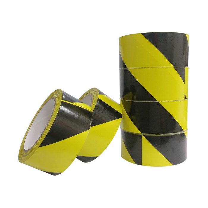 【YC】4.8公分x24公尺 PVC黑黃超黏警示膠帶-96卷入/箱