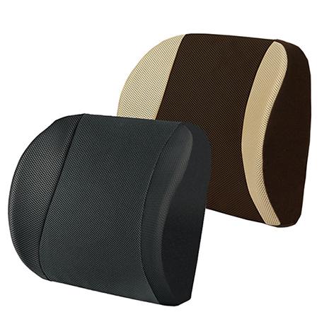 【源之氣】竹炭透氣加強記憶護腰靠墊/兩色可選(黑/米咖) RM-9449