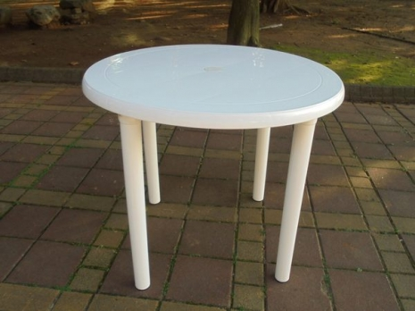Brother Club~兄弟牌歐式風情~白色塑膠圓桌(90cm)