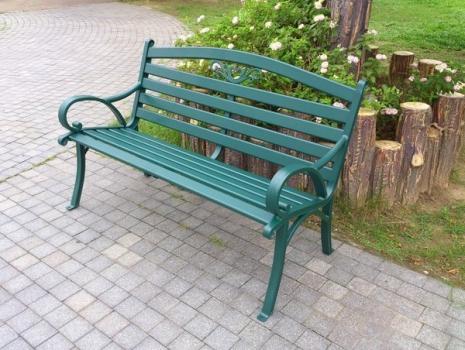 Brother Club~兄弟牌戶外風情~雅典鋁合金雙人公園椅(墨綠色)