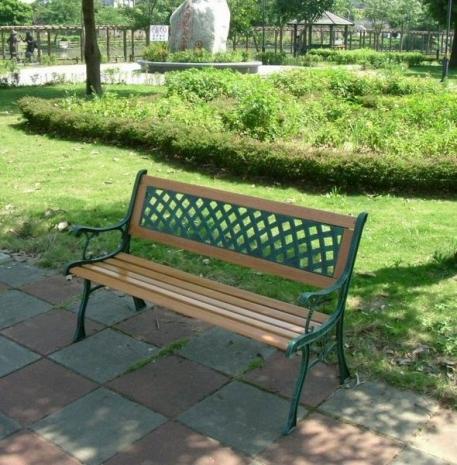 BROTHER 兄弟牌雙人鑄鐵公園椅 (附椅背)