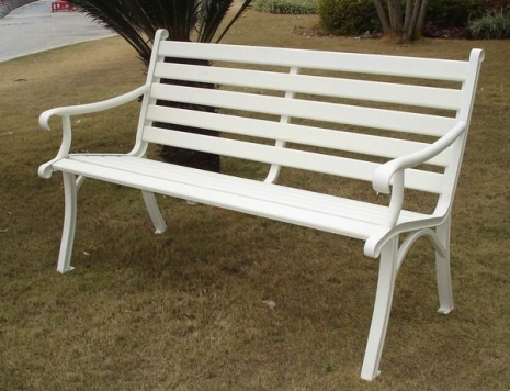 雅典雙人鋁合金公園椅 (白色)