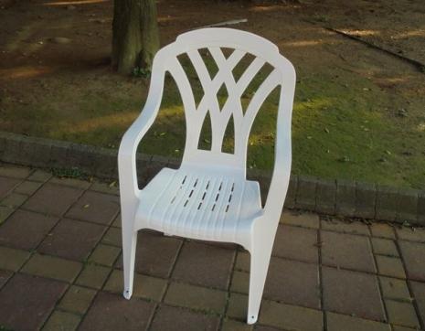 Brother Club~兄弟牌歐式風情~白色塑膠格網椅