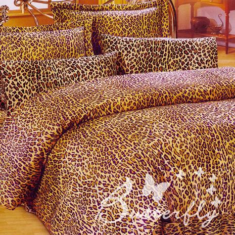 【BUTTERFLY】野戀豹紋 單人枕套床包兩件組(特賣)