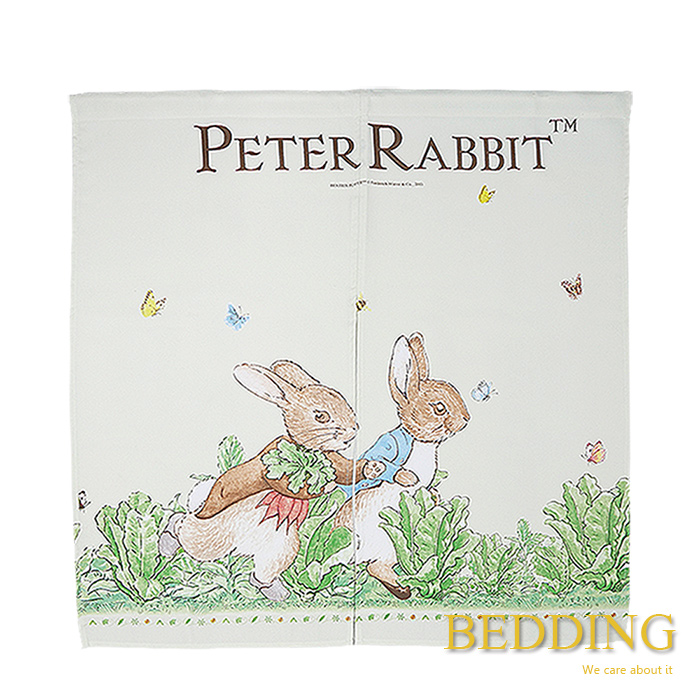 BEDDING【彼得兔中門簾-跑兔】 90x90公分 彼得兔家居系列