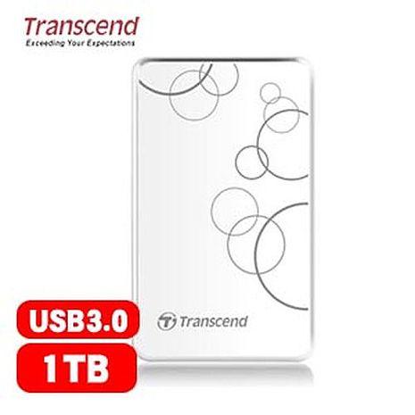 Transcend創見  StoreJet 25A3  1TB  隨身硬碟(白)