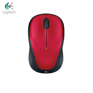 Logitech羅技 M235 2.4G無線滑鼠 紅色(1000dpi/光學技術/Unifying接收器)