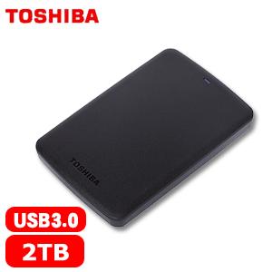 TOSHIBA東芝 A2 Basic 2.5吋 USB 3.0  2TB 行動硬碟 黑