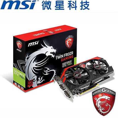 MSI微星 N750TI GAMING 2GD5/OC 顯示卡
