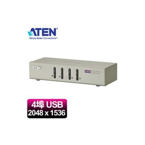 ATEN宏正 CS74U 4埠桌上型切換器(2048x1536/USB/SP/麥克風)