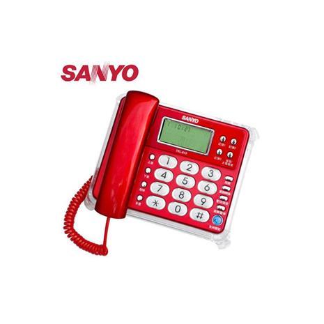SANYO 三洋 來去電報號合弦鈴聲有線電話 TEL-813 紅