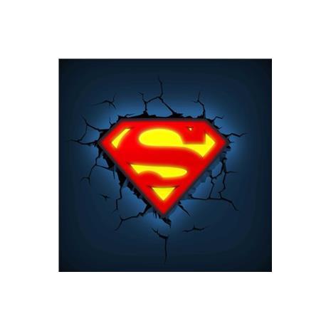 MARVEL復仇者聯盟 3D夜燈-超人logo
