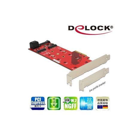 Delock M.2 NGFF SSD x3 PCI express擴充卡-89394