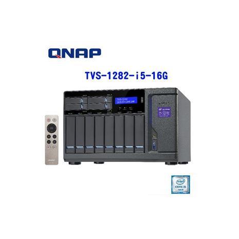 QNAP威聯通 TVS-1282-i5-16G 12Bay網路儲存伺服器