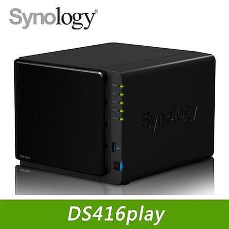 Synology 群暉 DS416Play 4Bay網路儲存伺服器