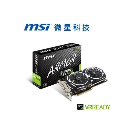 MSI微星 GeForceR GTX 1060 ARMOR 3G OCV1 顯示卡