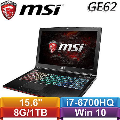 MSI微星 GE62VR 6RF(Apache Pro)-077TW-BB7670H8G1T0S10MH 15.6吋筆記型電腦