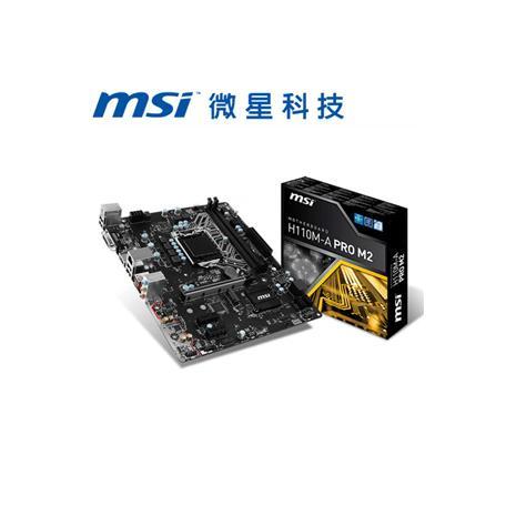 MSI微星 H110M-A PRO M2 主機板