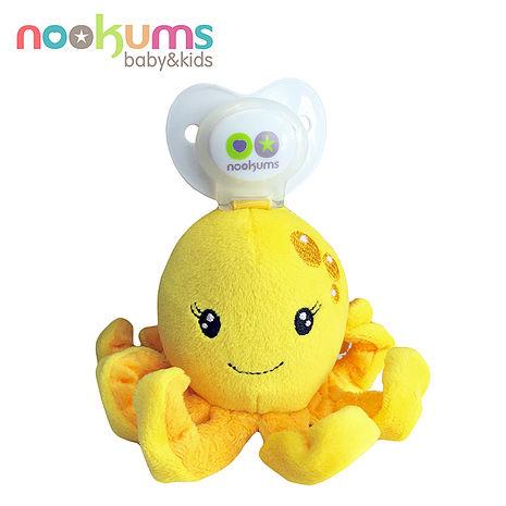【BabyTiger虎兒寶】nookums 美國品牌 安撫奶嘴玩偶 - 章魚姊