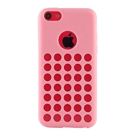 Miravivi iPhone 5C 可愛繽紛糖果色系洞洞保護套~甜美粉