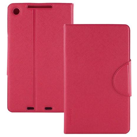 Miravivi ASUS Google NEXUS 7 II 2代 可立式十字紋薄型筆記本皮套-蜜桃紅